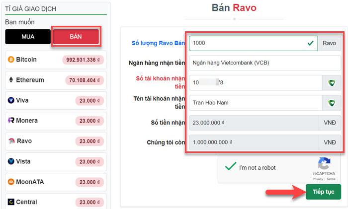 Bán Ravo (Aresbo) trên Muabancoin.io